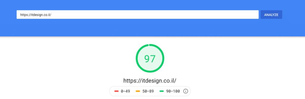 כלי מספר אחד בדיקת מהירות לאתריםgoogle pagespeed insights