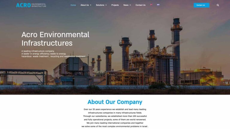 בניית אתרים עבור אקרו תשתיות סביבה