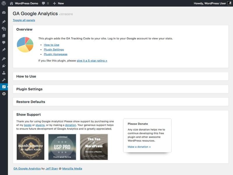 חיבור גוגל אנליטקס בעזרת תוסף חיצוני לוורדפרס